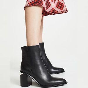 Alexander Wang // Anna Mid Heel Leather Bootie